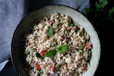 Simple Cauliflower Tabbouleh